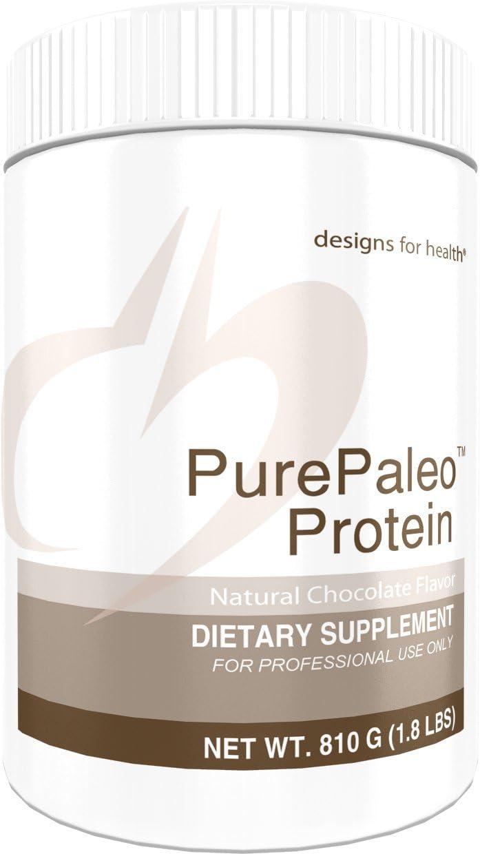 Designs for Health PurePaleo Protein Powder - Chocolate Pure Beef Collagen Peptides, 21g HydroBEEF Protein with Collagen + BCAAs (30 Servings / 810g)