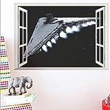 2018ウォールステッカースターウォーズの壁のステッカー3D Windows子供の部屋の壁のステッカー寝室の壁のステッカー貿易卸売業防水取り外し可能な壁のステッカー (Design : A)