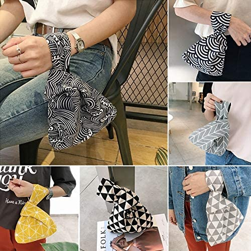 Color: 5 2019 Japanese and Wind Knot Wrist Bag Coin Purses Mobile Phone Key Small Bag Broken Flowers Handmade Square Bag Walking Bags Gimax Coin Purses