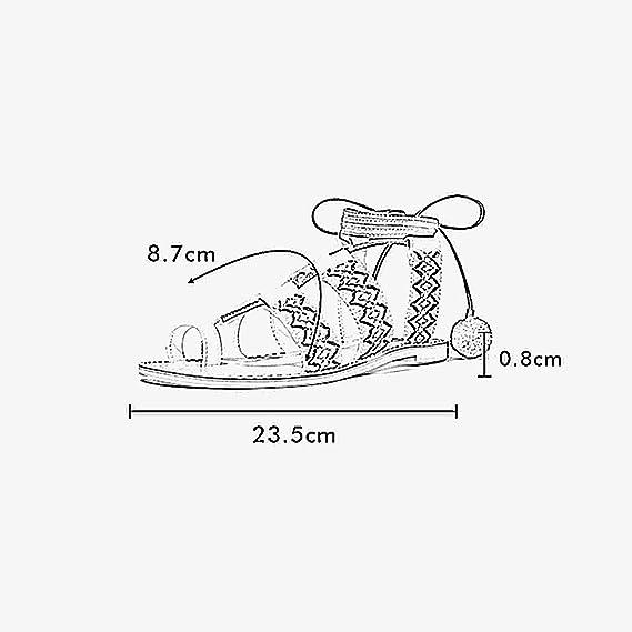 YQQ Popular-Personalizado Zapatos Planos con Punta De Clip Zapatos De La Correa Bola De Pelo Sandalias Planas Sandalias Femeninas Primavera Y Verano Niña ...