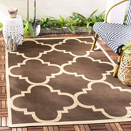 Safavieh Courtyard Collection CY6243-204 Dark Brown Indoor/ Outdoor Area Rug (5'3