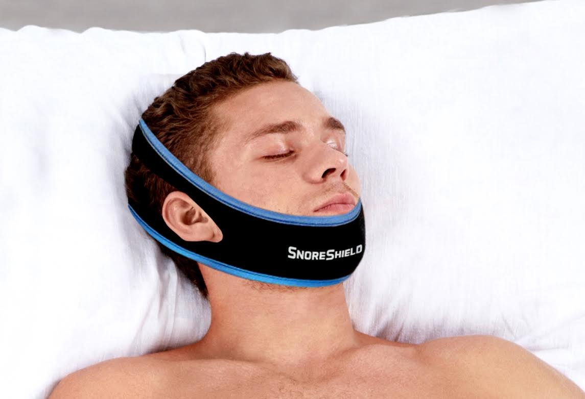 SnoreShield™ Adjustable Anti Snoring Chin Strap – Snore Stopper Sleep Aid – Instant Stop Snoring Solution - Natural Snore Relief