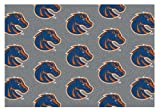 5'x8' BOISE STATE- Milliken NCAA College Sports Team Repeat Logo 100% Nylon Pile Fiber Broadloom Custom Area Rug Carpet with Premium Bound Edges