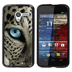 LASTONE PHONE CASE / Carcasa Funda Prima Delgada SLIM Casa Carcasa Funda Case Bandera Cover Armor Shell para Motorola Moto X 1 1st GEN I XT1058 XT1053 XT1052 XT1056 XT1060 XT1055 / Black Spots Blue Eye Cat