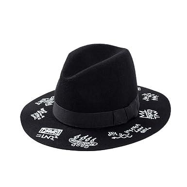 b929df070751e2 Amazon.com: 100% Wool Sun hat Fedora Felt floffy Crushable Hat Panama BB Hat  Walter White Heisenberg Sombrero Cap Women Men: Clothing