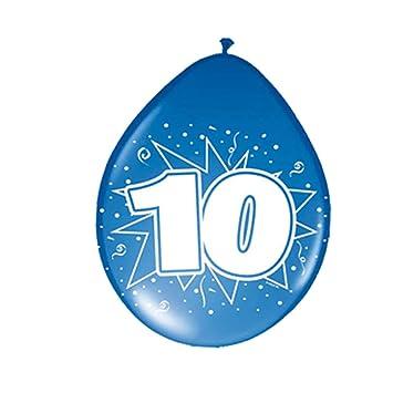 Amakando Esfera con número Cumple Globos cumpleaños 10 años ...