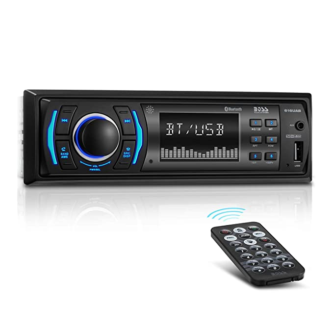 boss audio 616uab multimedia car stereo - single din lcd, bluetooth  audio/calling,