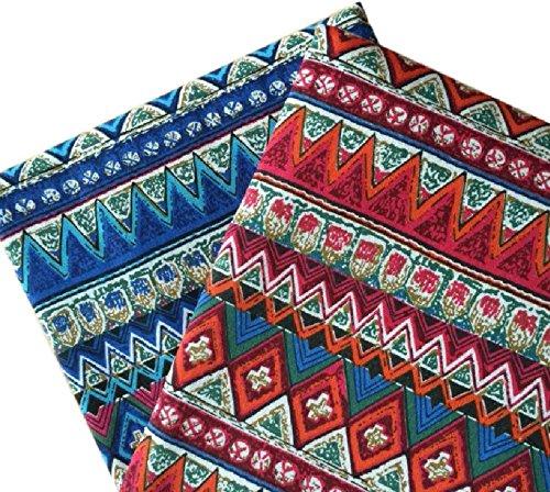 f93147c89d2f6 KMS 民族 柄 民族調 綿 麻 コットン リネン 生地 ハンドメイド DIY 手芸用 幅150cm