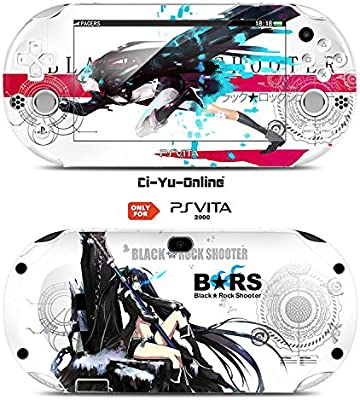 Ci-Yu-Online VINYL SKIN [PS Vita] - Black Rock Shooter #3 - STICKER DECAL COVER for Sony PlayStation Vita 2000 Console System