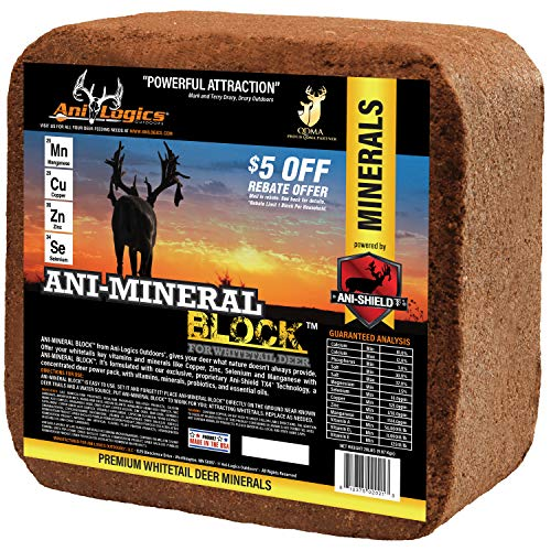 Ani Logics Outdoors Deer Mineral Block , 20 lb