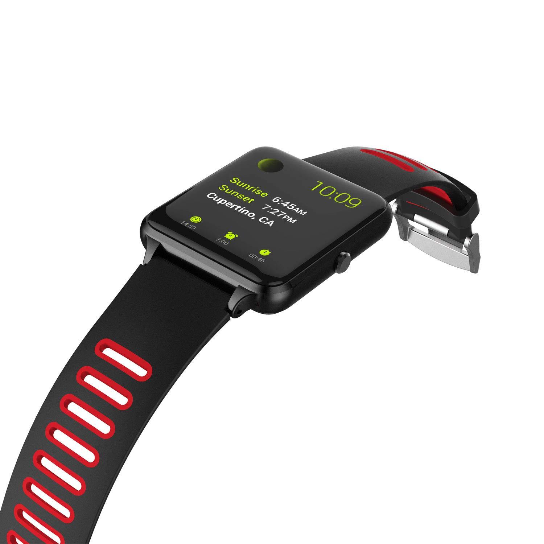 PRIXTON - Smartwatch/Reloj Inteligente con Pulsómetro, Monitor de sueño, Control Remoto de Cámara y Función Antipérdida, Color Negro | SWB24