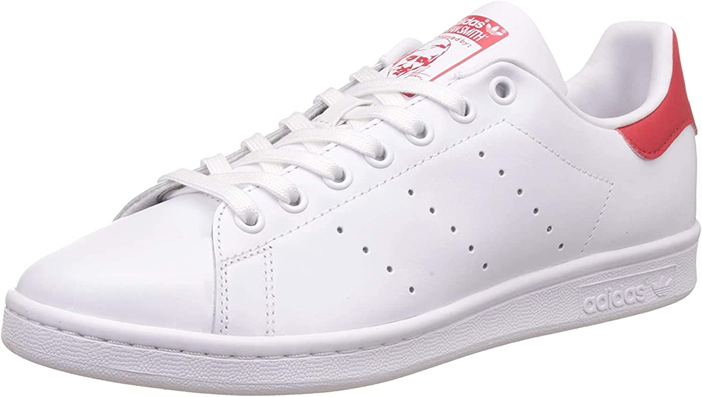 adidas Originals Stan Smith, Zapatillas de Deporte Unisex Adulto, Blanco (Running White Footwear/Running White Footwear/Collegiate Red), 44 2/3 EU: adidas Originals: Amazon.es: Deportes y aire libre