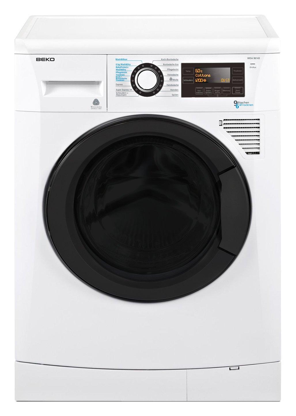 Beko WDA 96143 lavadora - Lavadora-secadora (Frente, Color blanco ...