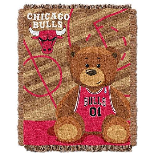 - NBA Chicago Bulls Half Court Woven Jacquard Baby Throw, 36