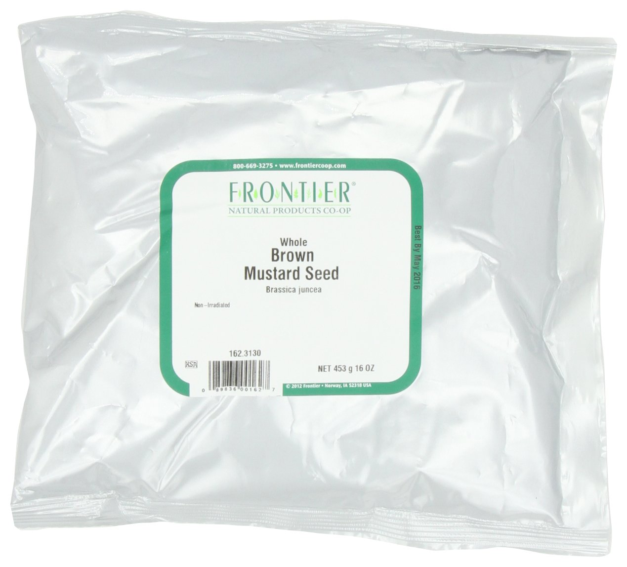 Frontier Mustard Seed, Brown Whole, 16 Ounce Bags (Pack of 3)