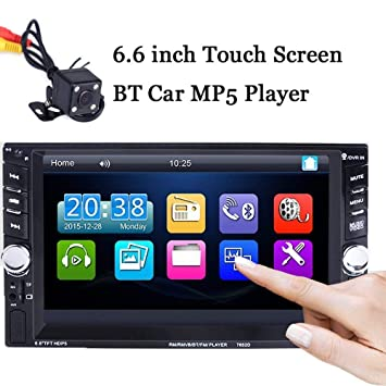 BoomBoost 6.6 Touch Bluetooth 2 DIN Radio de Coche Estéreo MP5 Player AUX/