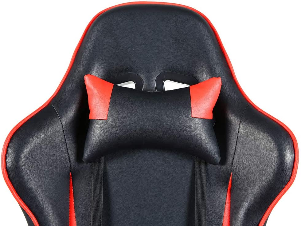 Height Adjustable High Back Swivel Chair Racing Gaming Chair Office Chair with Footrest Tier Black /& Red for Computer Desk Ergonomic Executive Style with Foam Seat Cushion