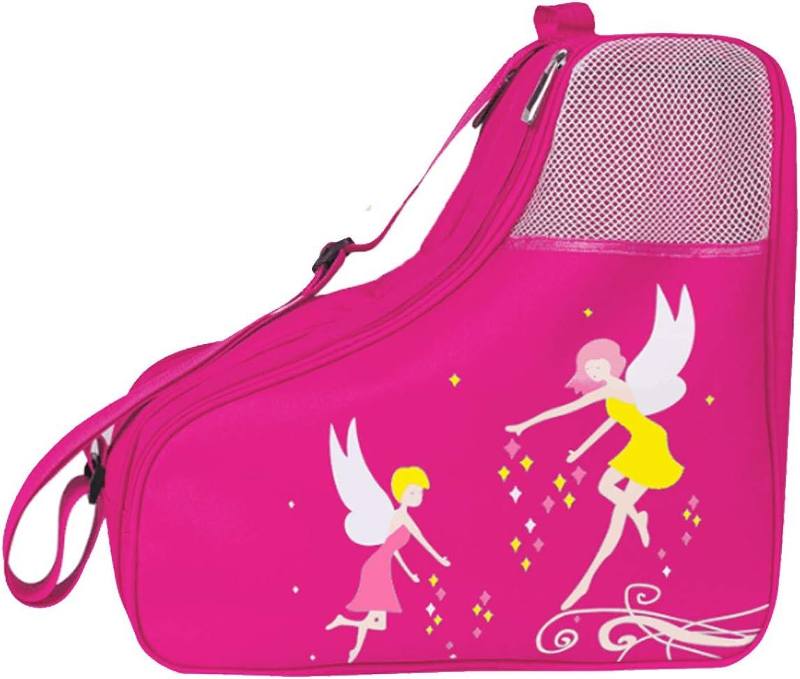Ice Skate Bag Girls, Roller SkatesBag Inline Skate Bag Roller Ski Boot Bag, Women Figure Hockey Skate Bag Rollerskates Ice Skating Bags, Multiple Pockets for Ice Skate Protective Gears for Kids Adults : Sports & Outdoors