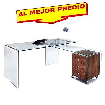 Mesas De Despacho De Cristal. Despacho Estilo Minimalista Estilo ...