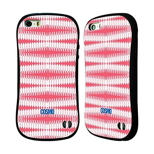 Official Cosmopolitan Coral Pink Boho Patterns Hybrid Case for Apple iPhone 5 / 5s / SE
