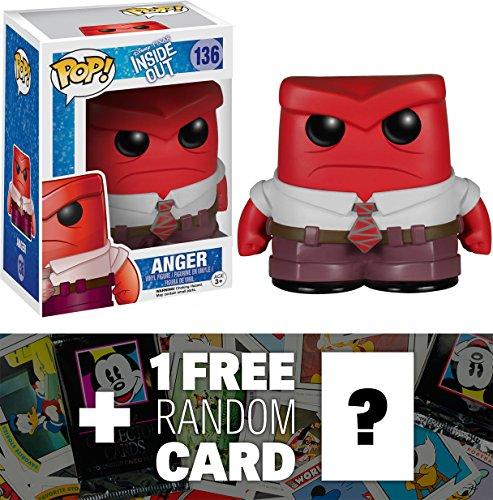 Anger: Funko POP! x Disney Pixar - Inside Out Vinyl Figure + 1 FREE Classic Disney Trading Card Bundle [48747]