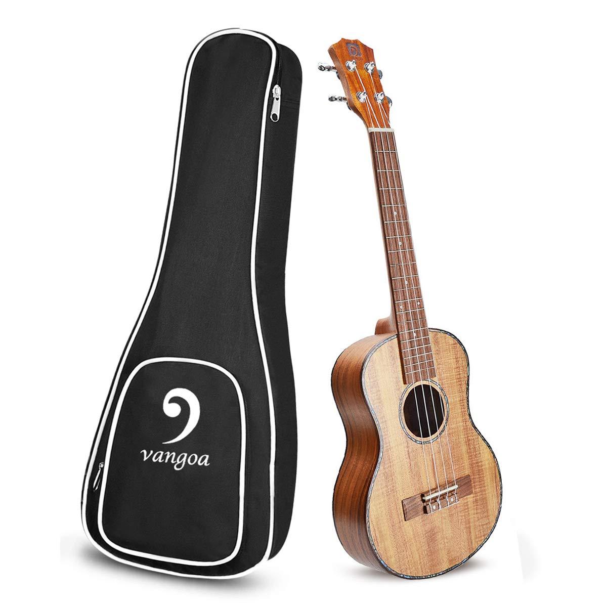 Acoustic Tenor Ukulele KOA Portable Ukelele 26 inch Beginners Starter Kit Acoustic Ukulele Professional with Accessories by Vangoa