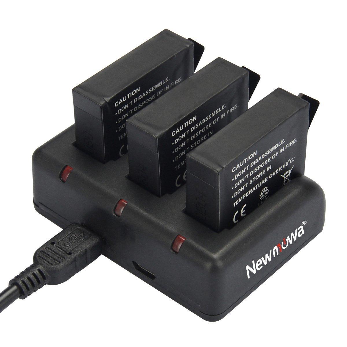 Gopro Hero 3+ Gopro Hero4 Newmowa Rapide 3 canaux Chargeur pour Gopro Hero 3 AHDBT-401 Rapide 3 canaux Chargeur AHDBT-301 AHDBT-302