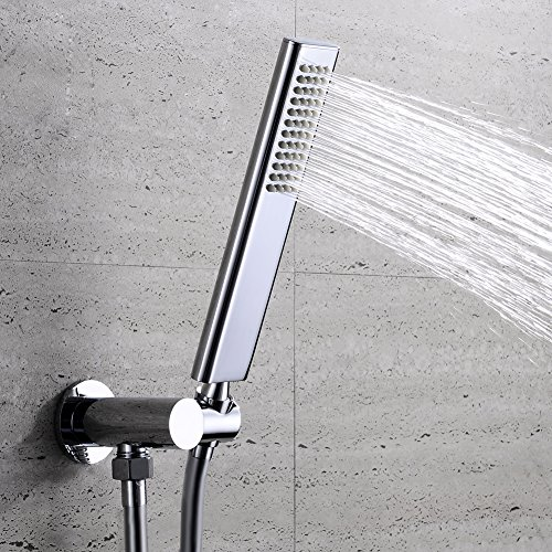 EMBATHER Brass Handheld Shower Head high Pressure Single Function Luxury Hand Shower Head,Polished Chrome (only Shower Head) by EMBATHER (Image #6)