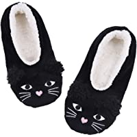 ALLBEST Womens Slipper Socks Low Cut Comfy&Warm Animal Non-skid Bedroom Slippers