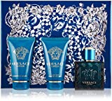 #2: Versace EROS Gift Set for Men 1.7 oz EDT + 1.7 oz Shower Gel + 1.7 oz Aftershave Balm