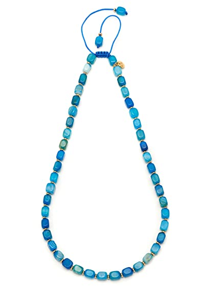 Lola Rose Women's Base Metal Marlin Ocean Blue Rock Crystal Necklace of Length 50-68 cm vyTeV