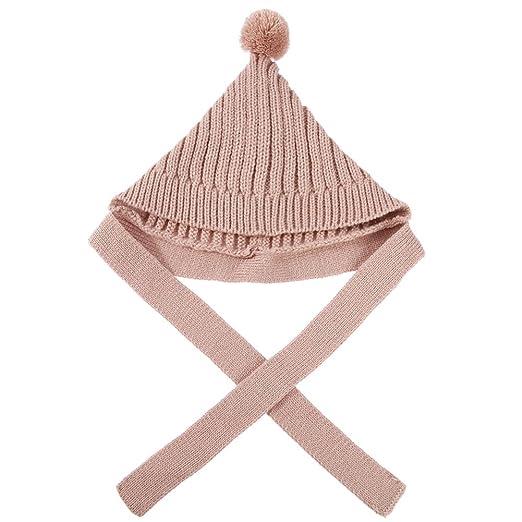 a5f4645441d amazingdeal Autumn Hat Baby Children Thicken Korean Hair Ball Solid Knitted  Cap(Khaki)