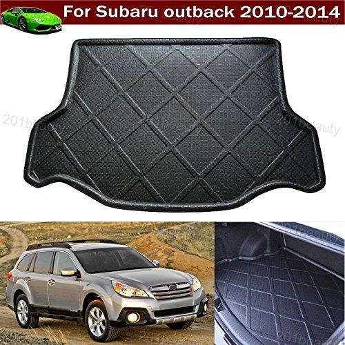 1pcs Black Color Car Boot Pad Carpet Trunk Cargo Liner Floor Mat Molded Cargo Tray Custom Fit For Subaru outback 2010-2014 Chaoben
