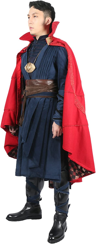 Xcoser Cosplay Disfraz de lujo para hombre, ropa roja, capa, Cloak ...