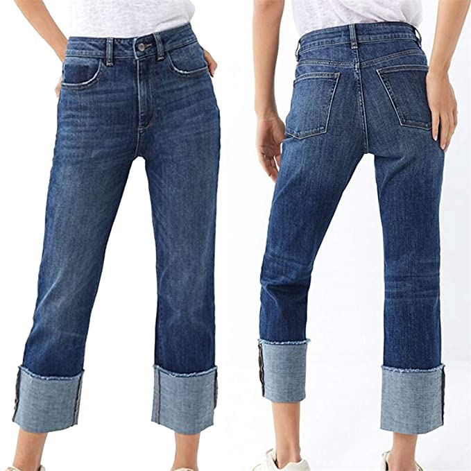 Amazon.com: Moda 2019 Mujer Pantalones De Cintura Alta ...