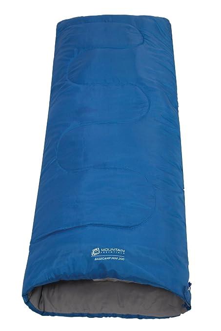 Mountain Warehouse Saco de dormir rectangular Basecamp 200 para niño Acampada Senderismo Cobalto Talla única