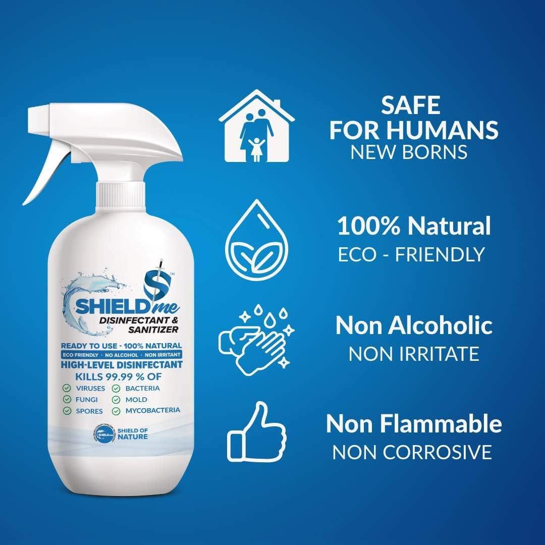 SHIELDme High Level Disinfectant & Sanitizer -250ml 4