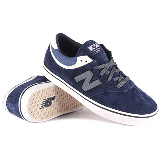 New Balance Quincy 254 Men Black Suede Skate Shoes