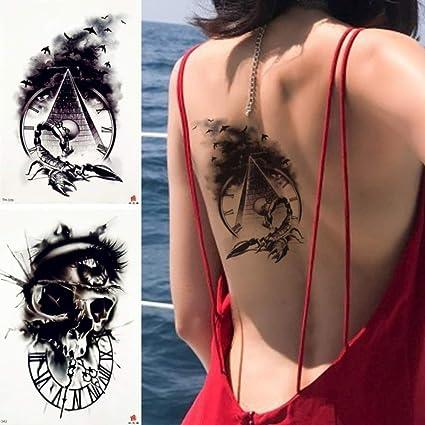 Yangll Antiguo Pirámide Reloj Etiqueta Engomada del Tatuaje ...