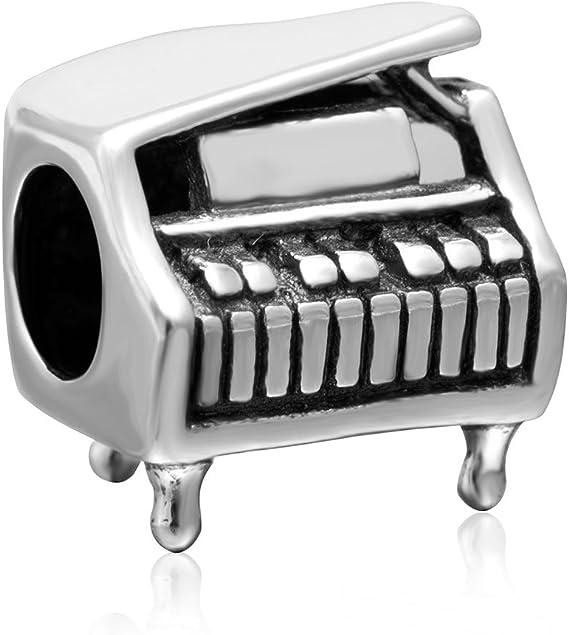 Musique Charm argent sterling 925/sax Saxophone Charm perle pour bracelet Original