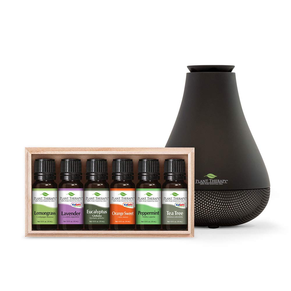 Plant Therapy Breathe Easy Set with NovaFuse Diffuse Black 100% Pure, Undiluted, Therapeutic Grade Essential Oils by Plant Therapy
