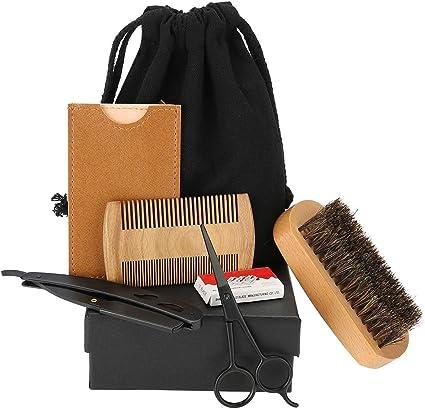 Beard Styling Set, 6 en 1 herramienta para el cuidado de la barba ...