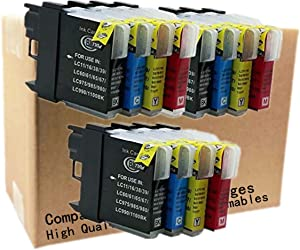 No-name Ink Cartridge Replacement for Brother LC11 LC 16 LC 38 LC61 LC65 LC67 LC980 LC990 LC1100 LC 39 60 975 985 LC39 LC60 LC975 LC985 MFCJ265W MFCJ410 MFCJ415W MFCJ220 MFC-250C MFC-255CW (3 Set1)