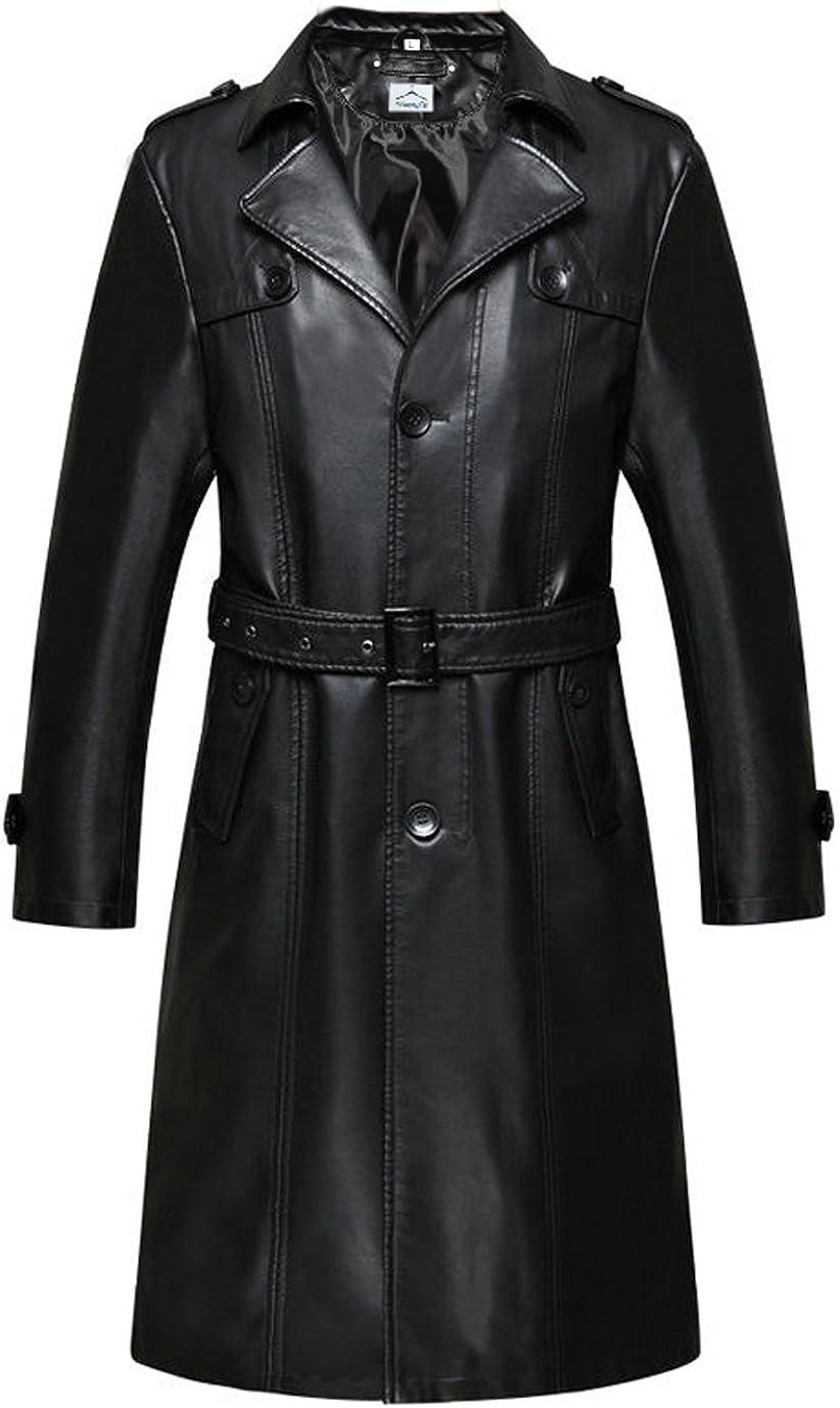 VearFit Chaqueta Larga para Mujer Blazar Black Chaqueta de Cuero Missy PU Black Plus Size Winter