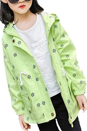 EMIN Mädchen Baby Kids Trenchcoat Frühling Herbst Jacken Mantel Outwear  Rosen Beiläufig Winterjacke Baumwolljacke 61adbed2f0