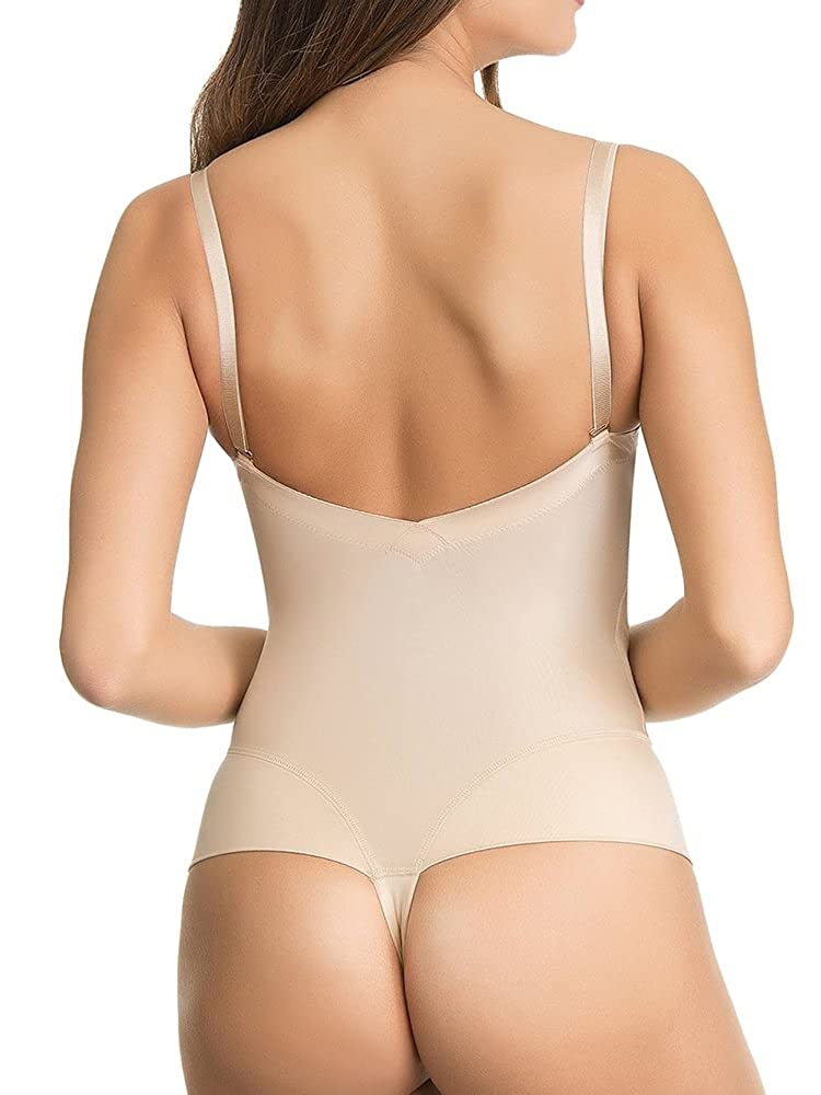 Miracle Fuller Bust Bodysuit DD-G Nude US34C at Amazon Womens Clothing store: