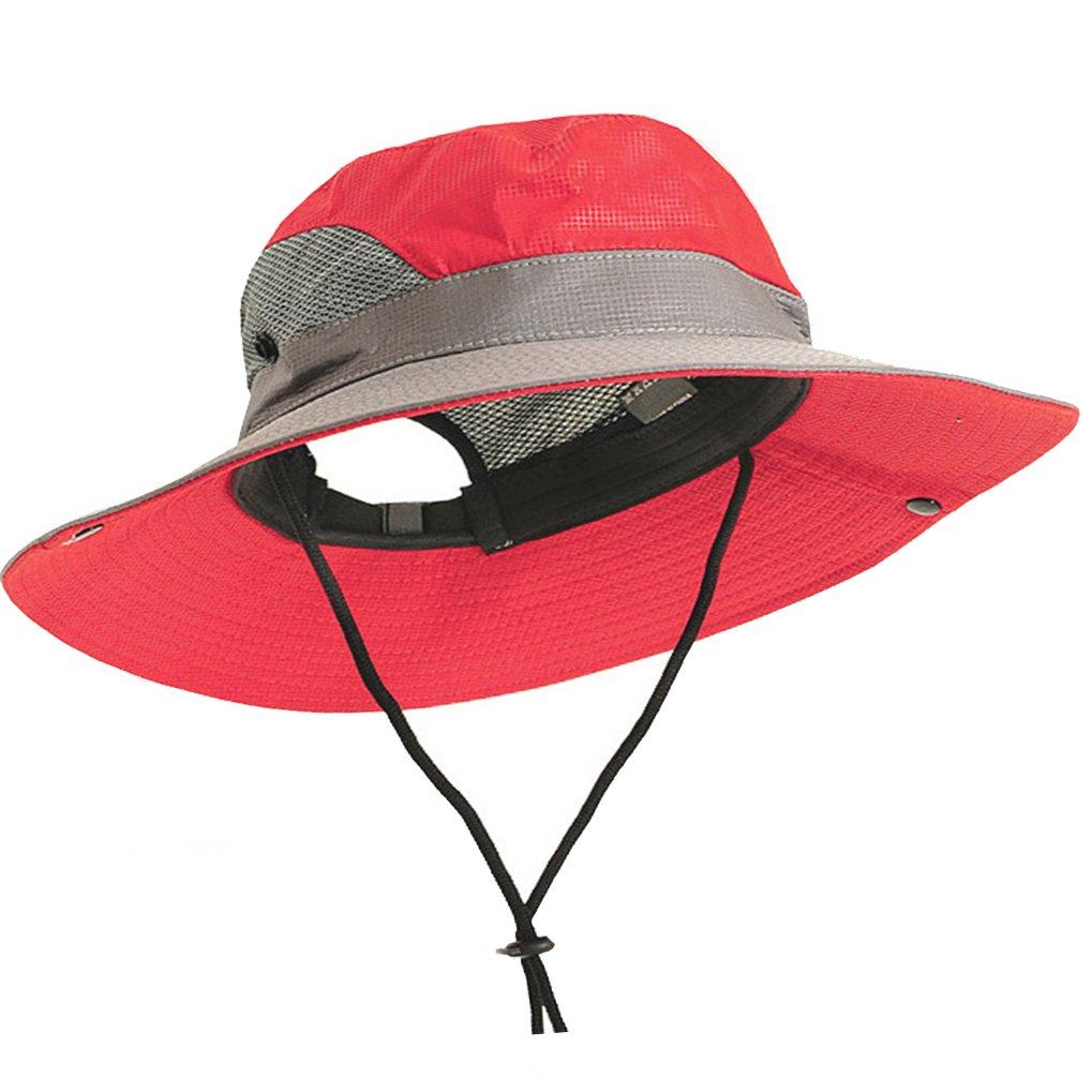 963489a5344 IZUS Sun Hat Quick Dry Mesh UV Protection Mesh Fishing Hat Boonie Cap Wide  Brim