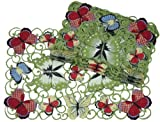 Xia Home Fashions Butterflies Embroidered Cutwork