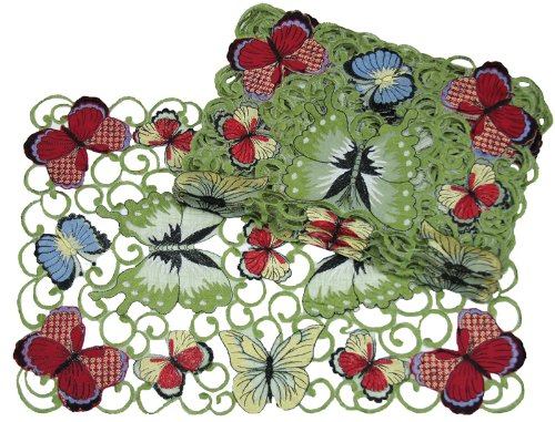 Xia Home Fashions Butterflies Embroidered