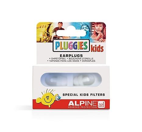 Alpine Pluggies Kids Protection Auditive pour enfants Blanc